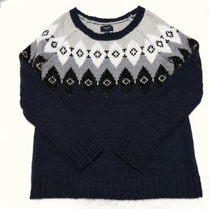 American Eagle fairisle wool blend pullover sweate